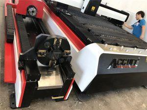 Baja karbon cnc serat laser mesin pemotong cepat memotong hemat energi