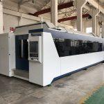 serat laser mesin pemotong cnc profesional 1000 w 1500 w dengan meja pertukaran