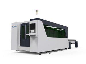 meja ganda cnc laser logam mesin pemotong, mesin pemotong plat laser otomatis