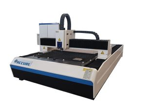 Mesin pemotong serat laser 2000w digunakan pada pelat baja ringan / plat besi