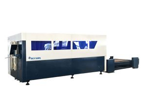 satu platform cnc serat laser mesin pemotong, pemotong lembaran logam