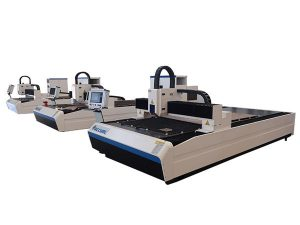 mesin pemotong serat laser presisi tinggi motor linear ganda untuk pelat logam