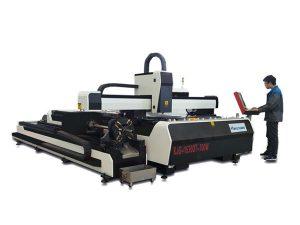 mini mesin pemotong laser daya tinggi, serat laser cutting peralatan dengan meja pertukaran