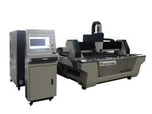 serat laser cutting mesin cnc stainless steel lembar cutter dengan meja pertukaran