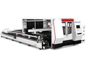 Serat laser cnc tabung mesin pemotong 1000 w dengan sistem kontrol cypcut
