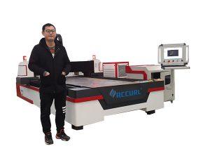 panduan linear drive cnc laser pipa mesin pemotong untuk tembaga / titanium