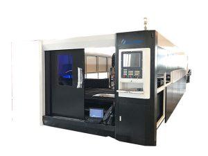 3000 w serat cnc laser mesin pemotong logam gantry struktur mengemudi ganda