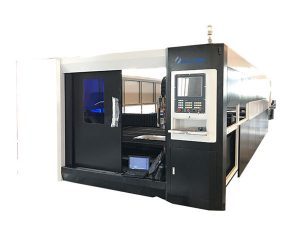 lembaran logam stainless steel serat laser mesin pemotong 1000 w presisi tinggi